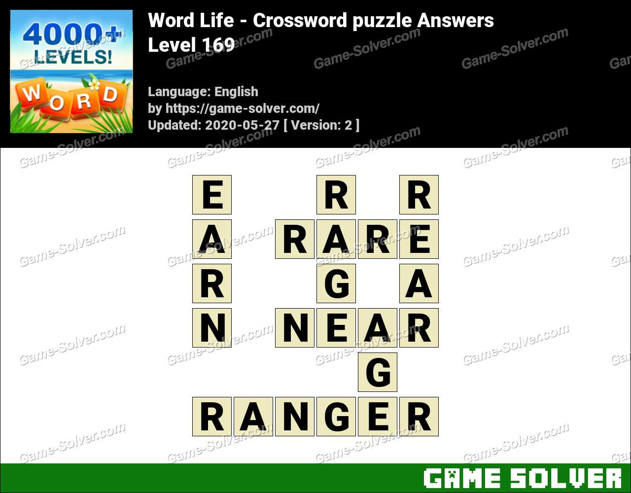 Word Life Level 169 Answers Game Solver