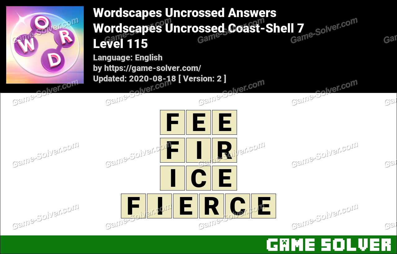 Wordscapes Uncrossed Coast Shell 7 Answers Game Solver