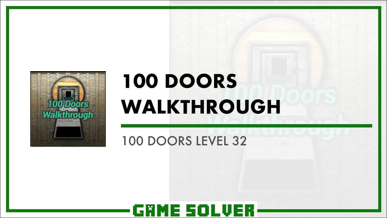 Doors level 32 cheat