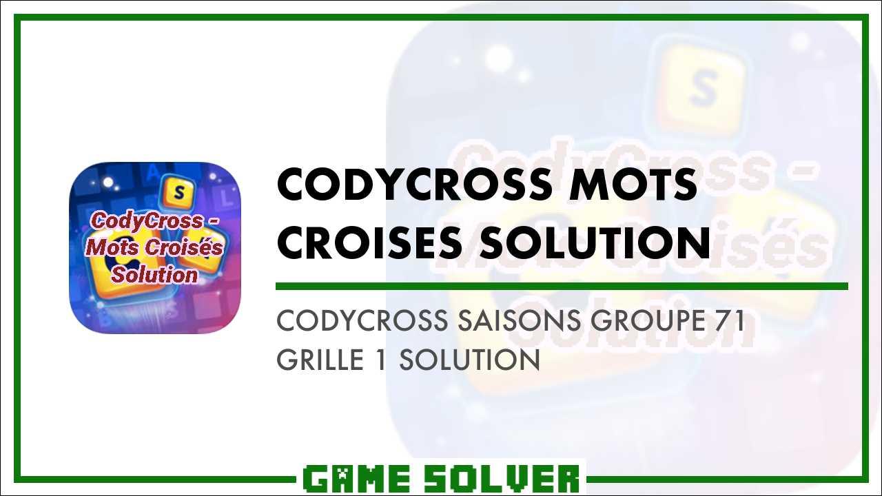 acheter authentique la meilleure attitude handicaps structurels CodyCross Saisons Groupe 71-Grille 1 Solution - Game Solver