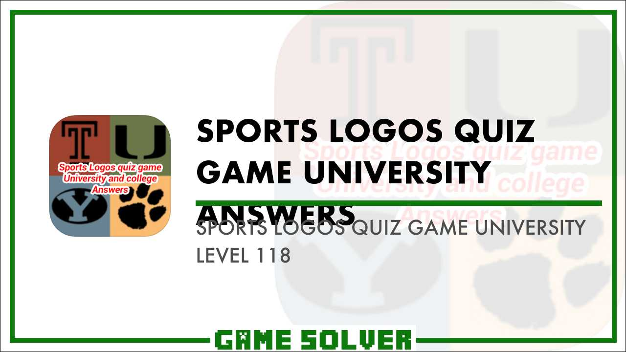 Sports Logos Quiz Game University Level 118